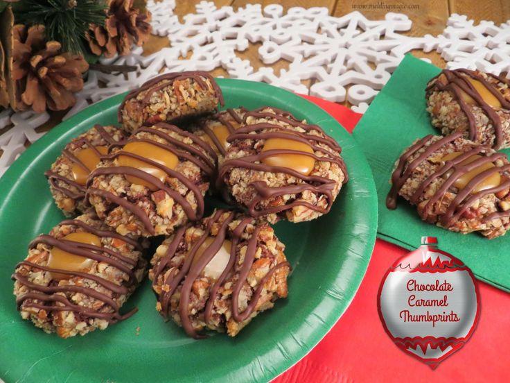 Chocolate Caramel Thumbprints | Sweets | Pinterest
