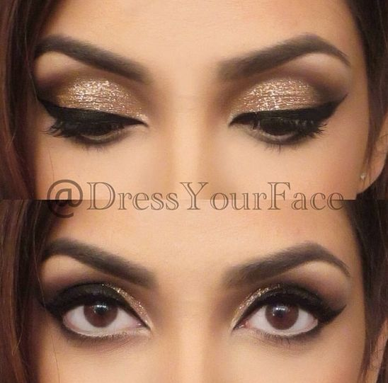 White And Gold: Makeup Ideas For White And Gold Dress