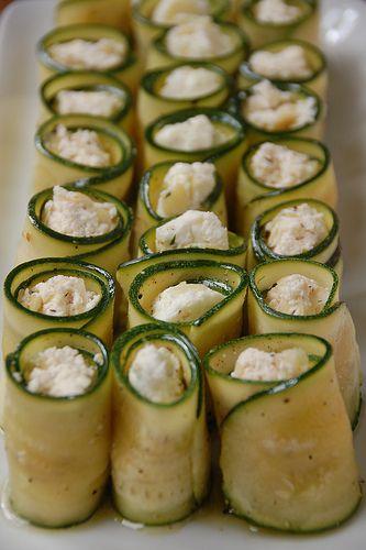 Ricotta & Feta Stuffed Zucchini Rolls   Food   Pinterest