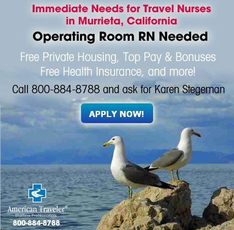 travel nursing locations california jobs