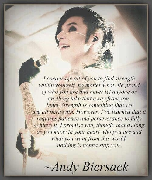 Andy Biersack strength quote | Images & Quotes I Love ...