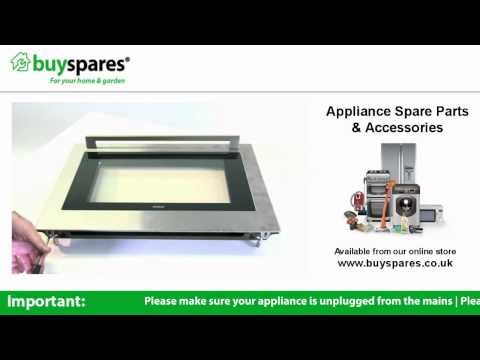 How to remove the glass from an oven door (ATAG OX6011KUU), BuySpares 'how to videos'.