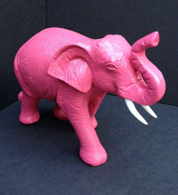 pink elephant elephant figurine elephant statue safari decor jung. Black Bedroom Furniture Sets. Home Design Ideas