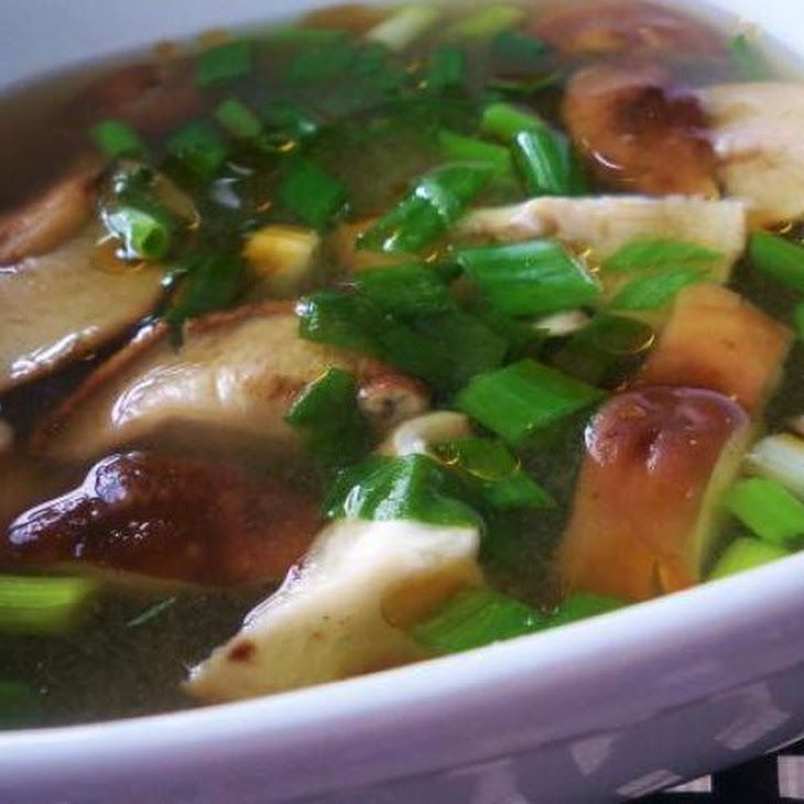 Miso Mushroom Soup - my adapted list: shiitake or portobello, spinach ...