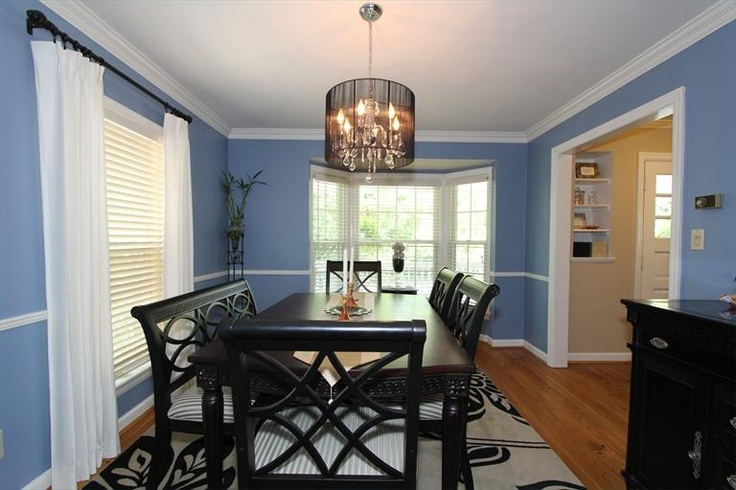 Dining Room With Blue Walls Paint Colors I Like Pinterest