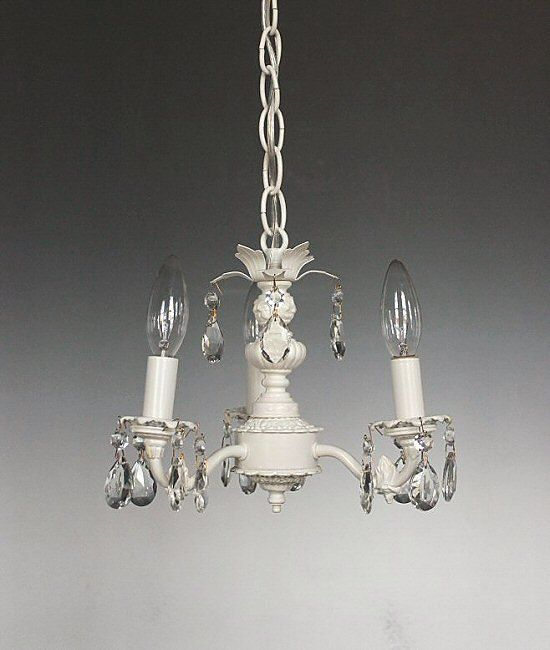 Mini chandelier shabby chic style lighting shabby chic - Shabby chic lighting fixtures ...
