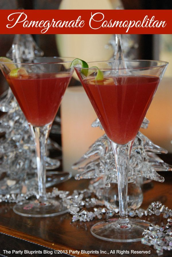 Pomegranate Cosmopolitan - perfec tmake-ahead cocktail when ...