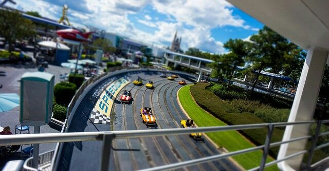 Image result for disney world Tomorrowland Speedway pinterest