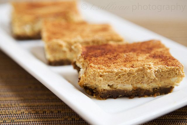 Pumpkin Cheesecake Bars with Gingersnap Crust by t.sullivan ...
