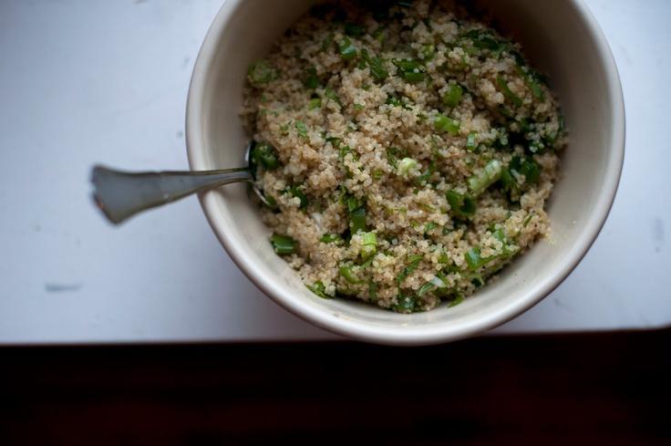 lemon-scented quinoa w/ scallions + mint | savory foods : summer | Pi ...