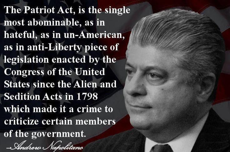 Andrew Napolitano~The Patriot Act.