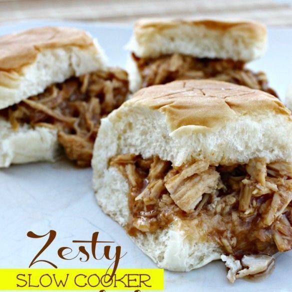 Zesty Slow Cooker Barbecue Chicken Recipe