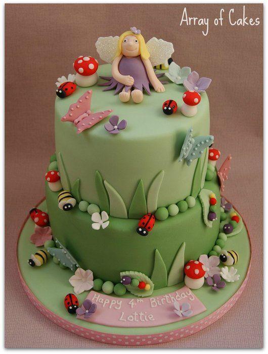 Fairy garden cake ideas photograph fairy garden bugs bir for Fairy garden birthday cake designs