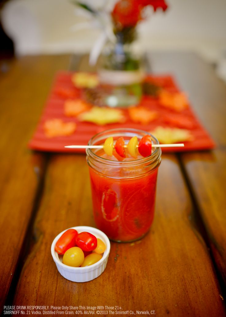 Heirloom Bloody Mary: 1.5 oz Smirnoff No. 21 vodka, 4 oz tomato juice ...