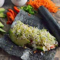 Tasty vegetable filled nori rolls. Packed with so much flavor and ...