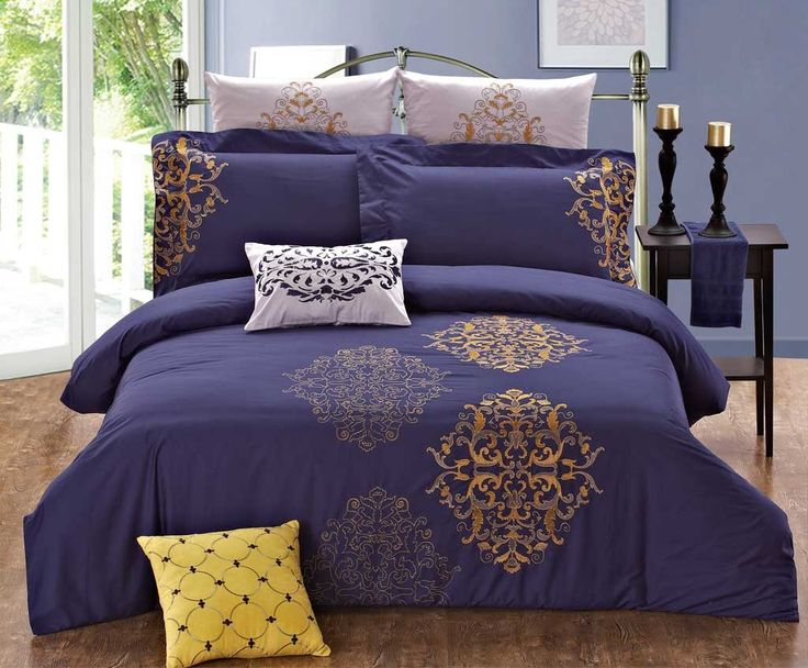 Purple And Gold Bedding For The Home Pinterest