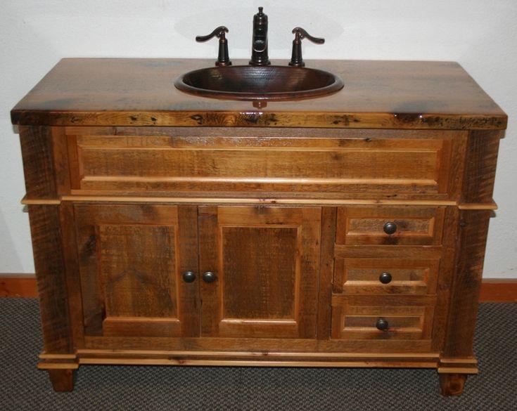 Model Reclaimed Barn Wood Bathroom Vanities  Traditional  Bathroom  Other