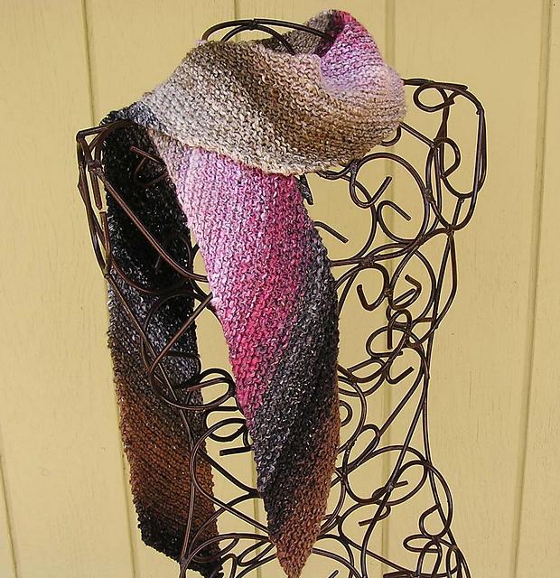 Crochet Scarf Pattern With Self Striping Yarn : Pin by Lisa Koch on Knitting Fun! Pinterest