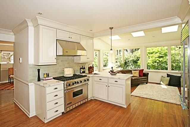 Sunroom kitchen future crib pinterest for Kitchen with sunroom attached