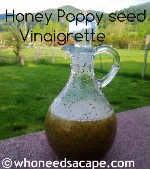 Honey Poppy seed Vinaigrette - perfect summer dressing! yum! #dressing ...