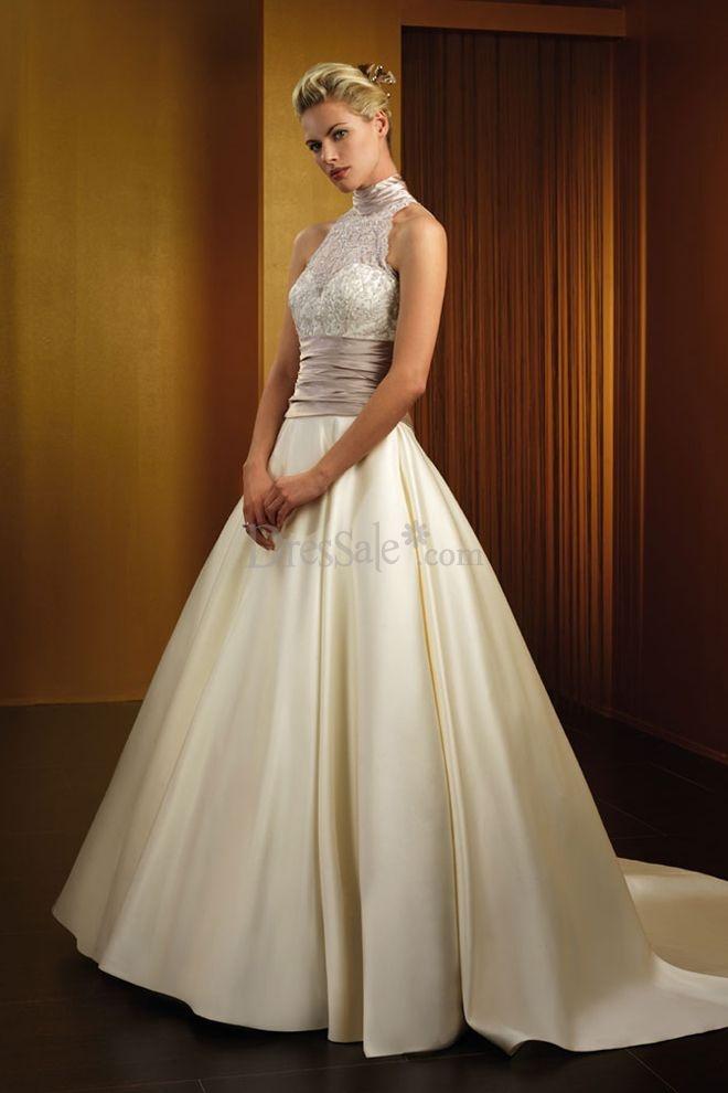 Pinterest for High collared wedding dress