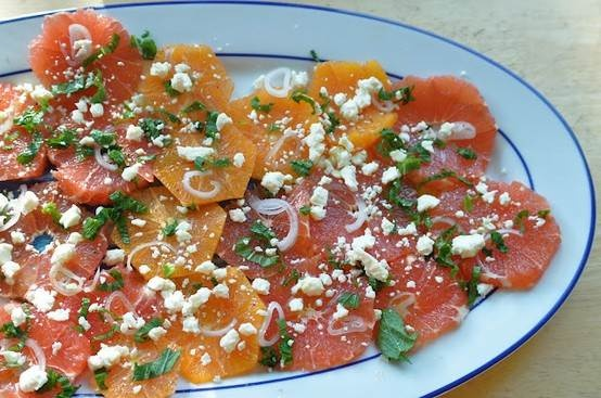 Citrus salad with feta & mint.... | Delicioso- recipes to try | Pinte ...