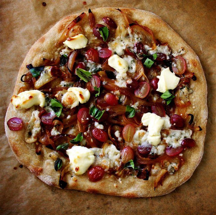 Gorgonzola And Grape Pizza Recipe — Dishmaps