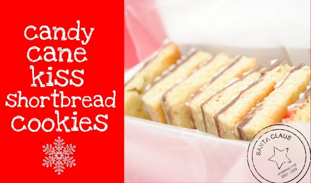 Candy Cane Kiss Shortbread Cookies @ Something Swanky