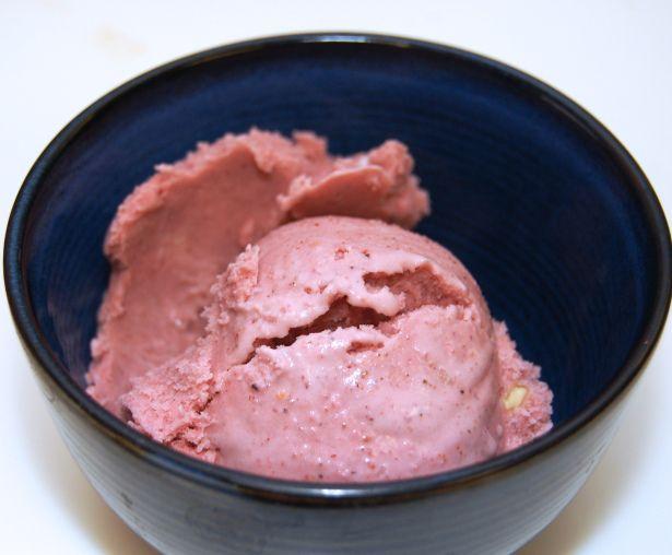 Strawberry Purple Basil Sherbet | ALL ABOUT FOOD | Pinterest