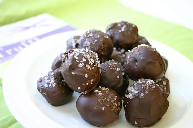 Dark Chocolate Red Wine Truffles with Sea Salt and OR Sugar