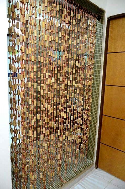 cork curtain wine arts crafts pinterest