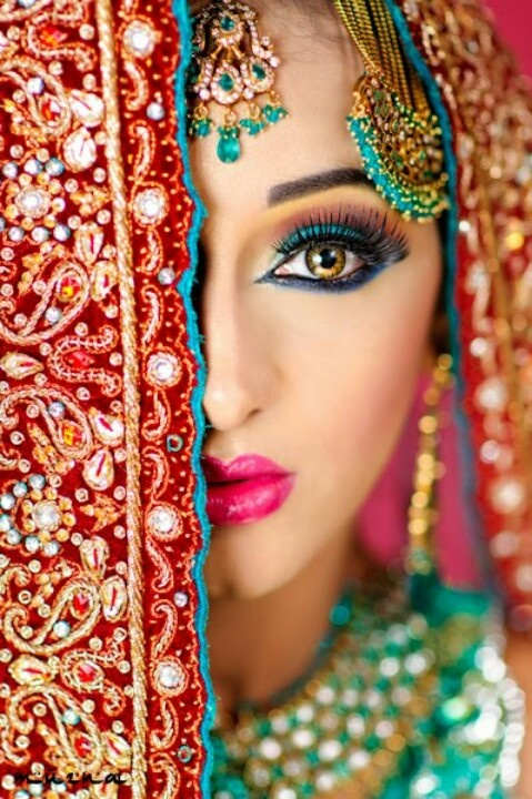 Exotic Wedding Makeup : Indian bride Exotic and beautiful Pinterest