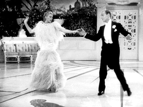 Ginger Rogers  amp  Fred Astaire in TOP HAT  Ginger wearing famous feather    Ginger Rogers Dress In Top Hat