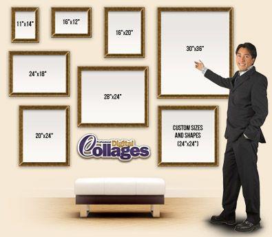 Standard Frame Sizes  Picture Salon