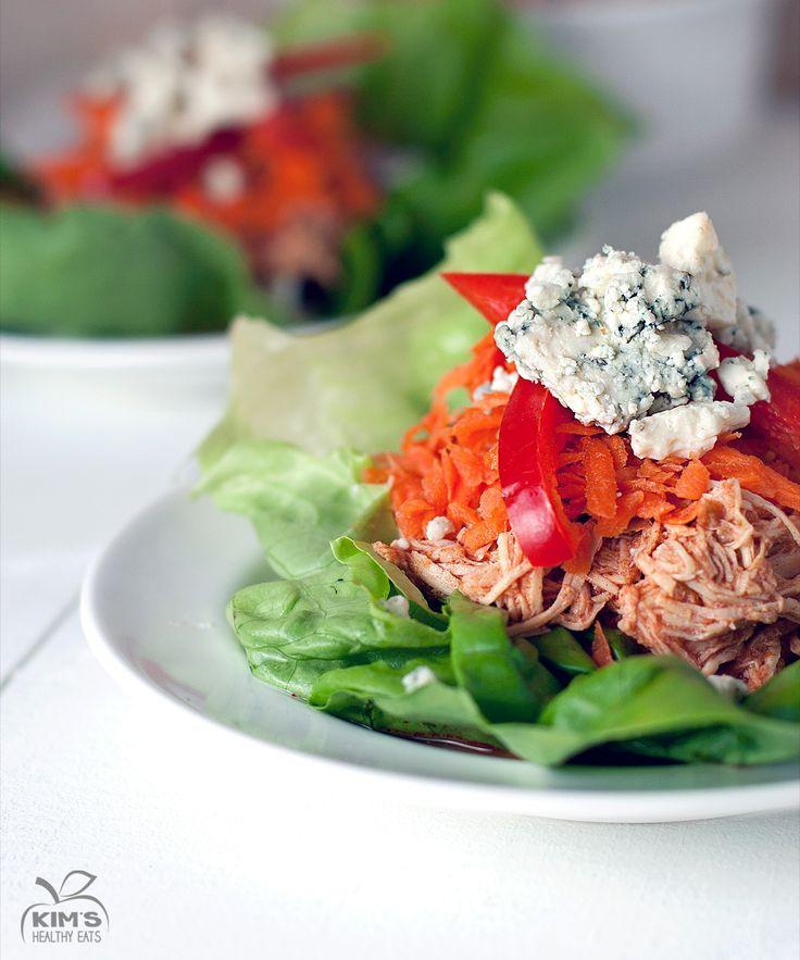 Crock Pot Buffalo Chicken Lettuce Wraps | Food | Pinterest