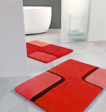 red bathroom accessories with rugs bathroom design and