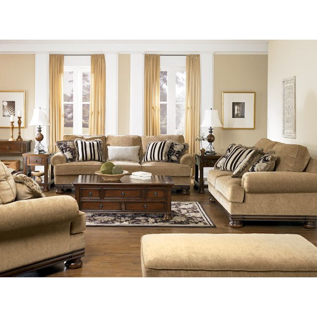 Oxford gate umber living room set sofa loveseat and chair and a half