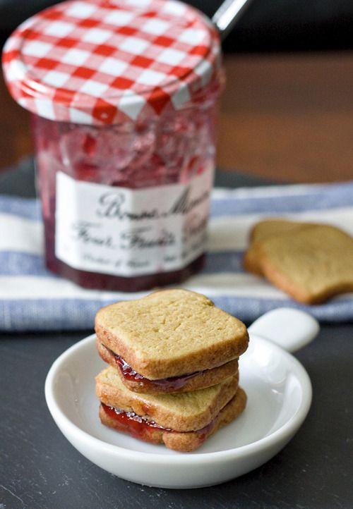 Galletas con mermelada de Fresa | ESTILO DE VIDA | Pinterest