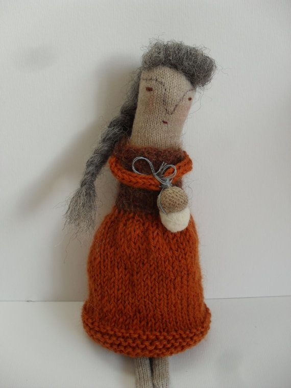 Acorn lady halloween doll one of a kind by maidolls on etsy
