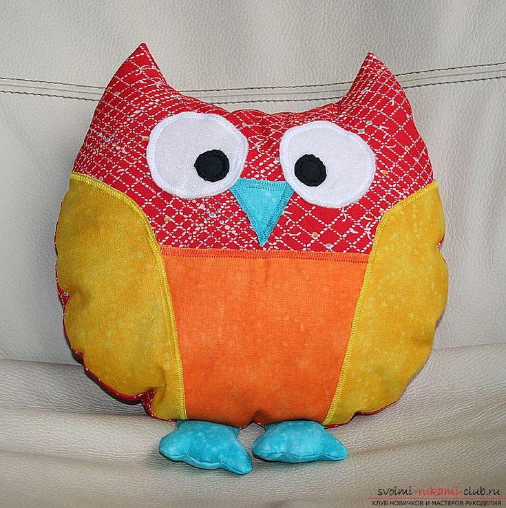 Как сшить подушку совой