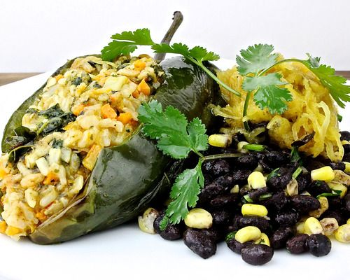 - Roasted poblano chile, Jack and Cheddar cheeses, kale, butternut ...