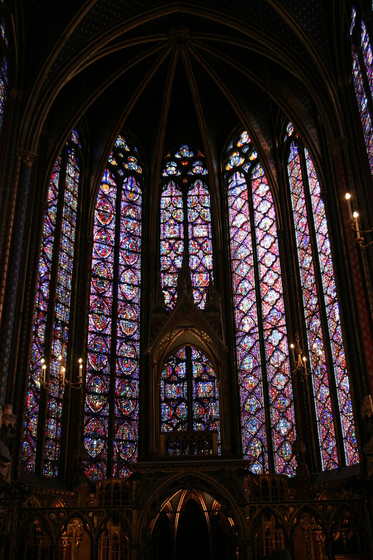 Sainte-Chappelle, Paris.  A jewel box, indeed!see with my honey