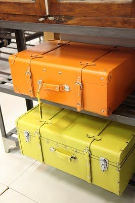 colourful suitcases - perfect storage of toys in kids room.