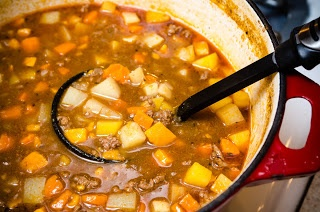Irish Root Vegetable Stew filled with potatoes, sweet potatoes ...