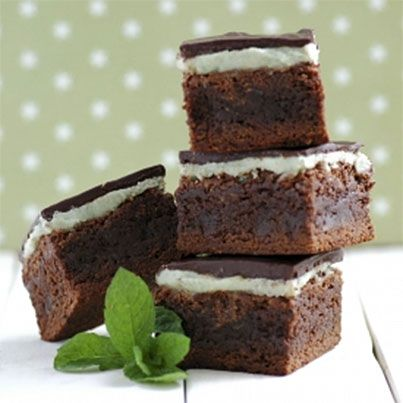 Chocolate Mint Brownies | Snacks and everything sweet | Pinterest