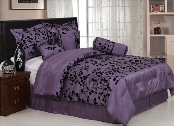 Purple and black bedroom decor home decor ideas pinterest Purple and black bedroom