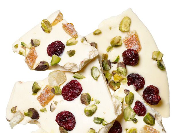 Pistachio-Cranberry-Candied Orange Bark: Not only do the colors of the ...