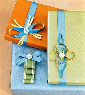 Preppy gift wrap.