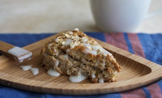 Spiced Pear and Oat Cream Scones 1 1/2 cups all-purpose flour 3/4 cups ...
