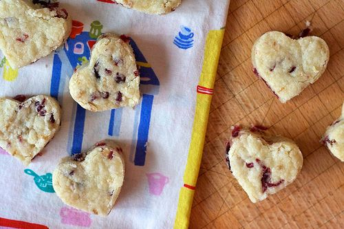 Dried Cranberry Shortbread Hearts | Flickr - Photo Sharing!